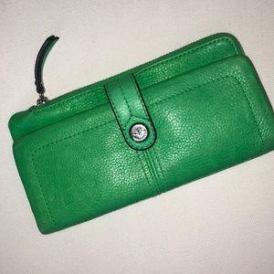 B Makowsky Green Wallet